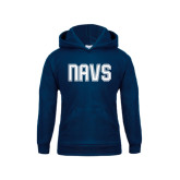 Youth Navy Fleece Hoodie-NAVS Collegiate Modern