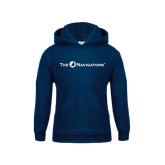 Youth Navy Fleece Hoodie-The Navigators