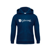 Youth Navy Fleece Hoodie-Glen Eyrie - Flat