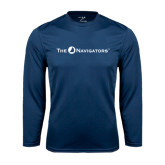 Syntrel Performance Navy Longsleeve Shirt-The Navigators