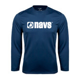 Syntrel Performance Navy Longsleeve Shirt-NAVS