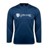 Syntrel Performance Navy Longsleeve Shirt-Glen Eyrie - Flat