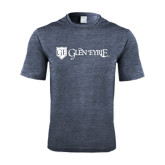 Performance Navy Heather Contender Tee-Glen Eyrie - Flat