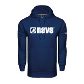Under Armour Navy Performance Sweats Team Hoodie-NAVS