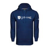 Under Armour Navy Performance Sweats Team Hoodie-Glen Eyrie - Flat