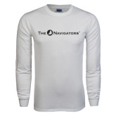 White Long Sleeve T Shirt-The Navigators