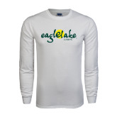 White Long Sleeve T Shirt-Eagle Lake Camps