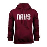 Maroon Fleece Hoodie-NAVS Collegiate Modern