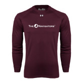 Under Armour Maroon Long Sleeve Tech Tee-The Navigators
