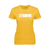 Ladies Gold T Shirt-NAVS