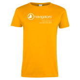 Ladies Gold T Shirt-Navigators