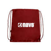 Navigators Nylon Cardinal Drawstring Backpack-NAVS