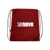 Cardinal Drawstring Backpack-NAVS