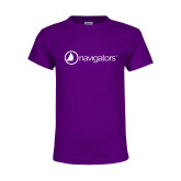 Youth Purple T Shirt-Navigators
