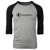 Grey/Black Tri Blend Baseball Raglan-Navigators