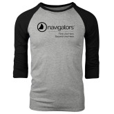 Grey/Black Tri Blend Baseball Raglan-Navigators