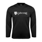 Syntrel Performance Black Longsleeve Shirt-Glen Eyrie - Flat