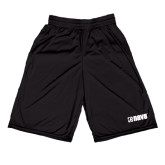 Midcourt Performance Black 9 Inch Game Short-NAVS