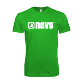 Next Level SoftStyle Kelly Green T Shirt-NAVS