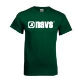 Dark Green T Shirt-NAVS