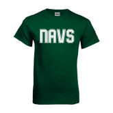 Dark Green T Shirt-NAVS Collegiate Modern