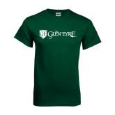 Dark Green T Shirt-Glen Eyrie - Flat