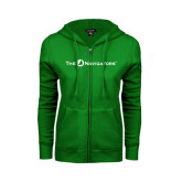 ENZA Ladies Kelly Green Fleece Full Zip Hoodie-The Navigators
