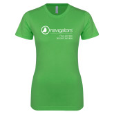 Next Level Ladies SoftStyle Junior Fitted Kelly Green Tee-Navigators