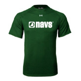 Under Armour Dark Green Tech Tee-NAVS