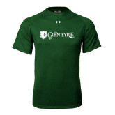 Under Armour Dark Green Tech Tee-Glen Eyrie - Flat