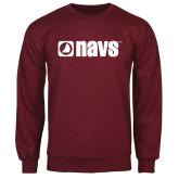 Maroon Fleece Crew-NAVS
