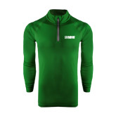 Under Armour Dark Green Tech 1/4 Zip Performance Shirt-NAVS