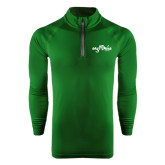 Under Armour Dark Green Tech 1/4 Zip Performance Shirt-Eagle Lake Camps