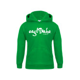 Youth Kelly Green Fleece Hoodie-Eagle Lake Camps