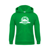 Youth Kelly Green Fleece Hoodie-Eagle Lake Badge
