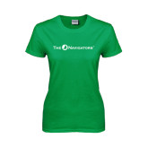 Ladies Kelly Green T Shirt-The Navigators