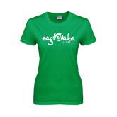 Ladies Kelly Green T Shirt-Eagle Lake Camps