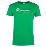 Ladies Kelly Green T Shirt-Navigators