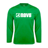 Performance Kelly Green Longsleeve Shirt-NAVS
