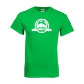 Kelly Green T Shirt-Eagle Lake Badge Distressed