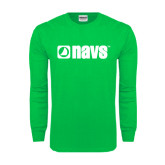 Kelly Green Long Sleeve T Shirt-NAVS