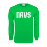 Kelly Green Long Sleeve T Shirt-NAVS Collegiate Modern