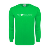 Kelly Green Long Sleeve T Shirt-The Navigators