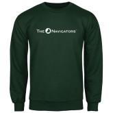 Dark Green Fleece Crew-The Navigators