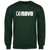 Dark Green Fleece Crew-NAVS
