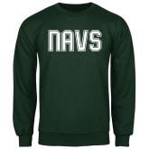 Dark Green Fleece Crew-NAVS Collegiate Modern