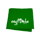Kelly Green Sweatshirt Blanket-Eagle Lake Camps