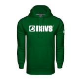 Under Armour Dark Green Performance Sweats Team Hoodie-NAVS