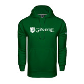 Under Armour Dark Green Performance Sweats Team Hoodie-Glen Eyrie - Flat