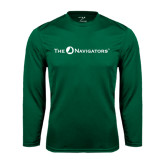 Syntrel Performance Dark Green Longsleeve Shirt-The Navigators